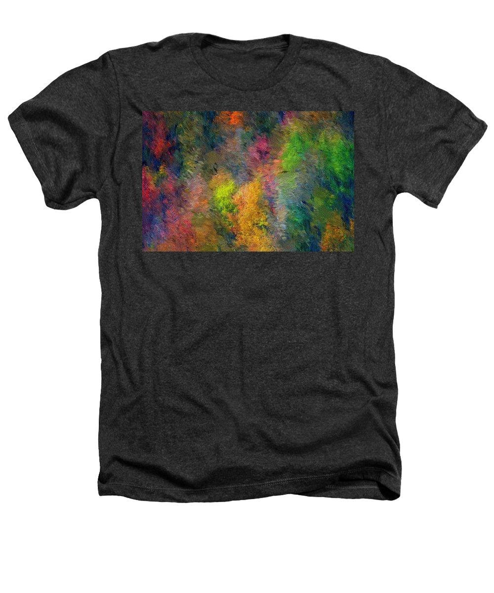 Landscape Heathers T-Shirt featuring the digital art Autum Hillside by David Lane