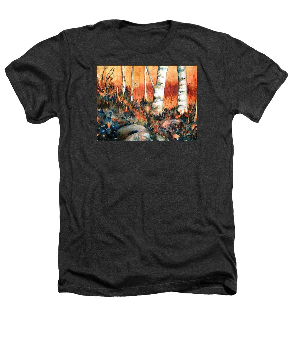 Landscape Heathers T-Shirt featuring the painting Autumn by Karen Stark