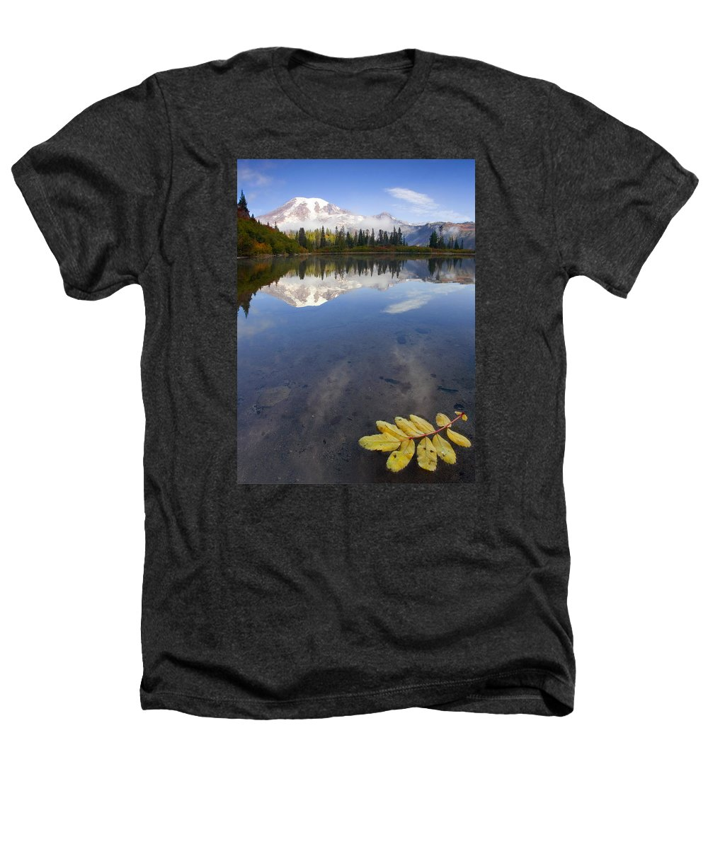 Rainier Heathers T-Shirt featuring the photograph Autumn Suspended by Mike Dawson