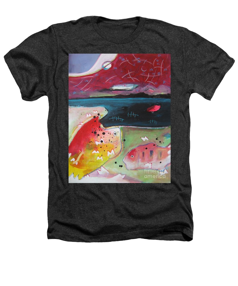 Acrylic Paintings Heathers T-Shirt featuring the painting Baieverte by Seon-Jeong Kim
