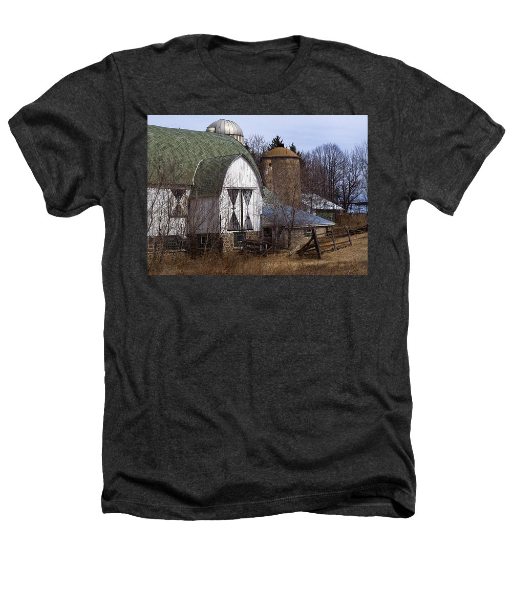 Barn Heathers T-Shirt featuring the photograph Barn On 29 by Tim Nyberg