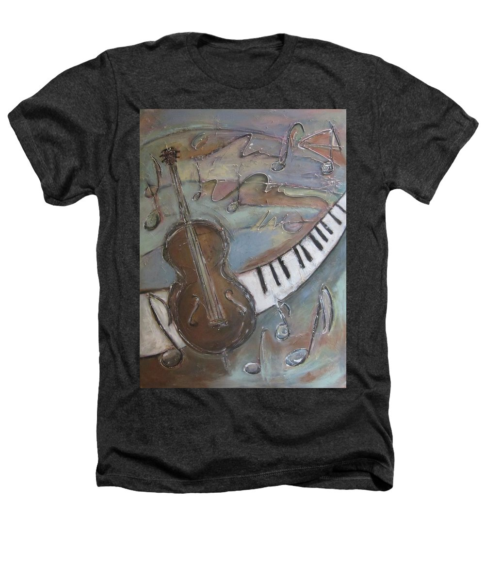 Painting Heathers T-Shirt featuring the painting Bass And Keys by Anita Burgermeister