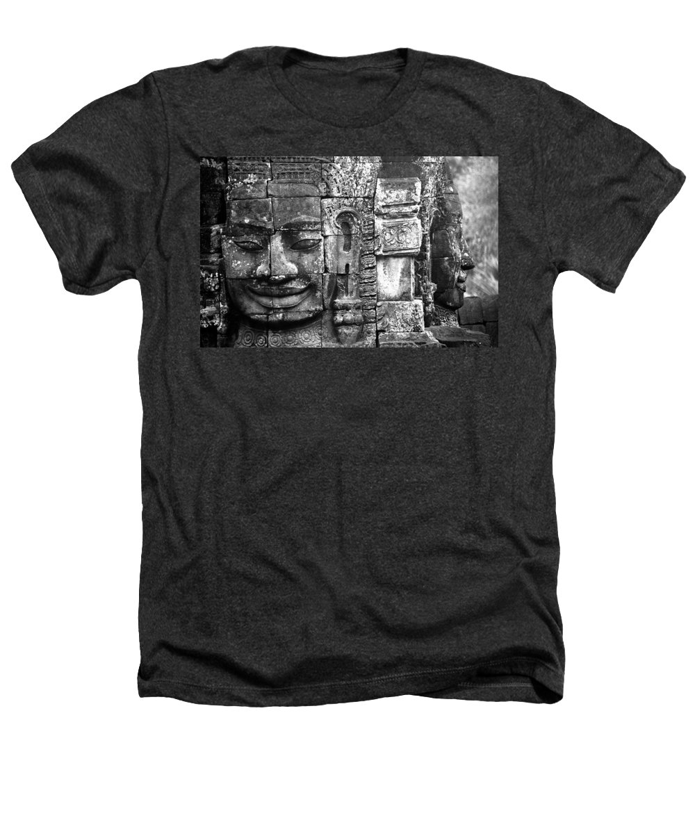 Bayon Temple Heathers T-Shirt featuring the photograph Bayon IIi by Patrick Klauss