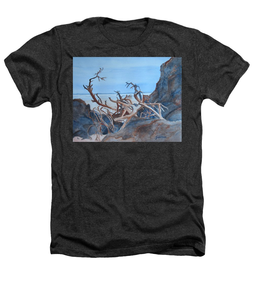 Seascapes Heathers T-Shirt featuring the painting Beach Tangle by Jenny Armitage