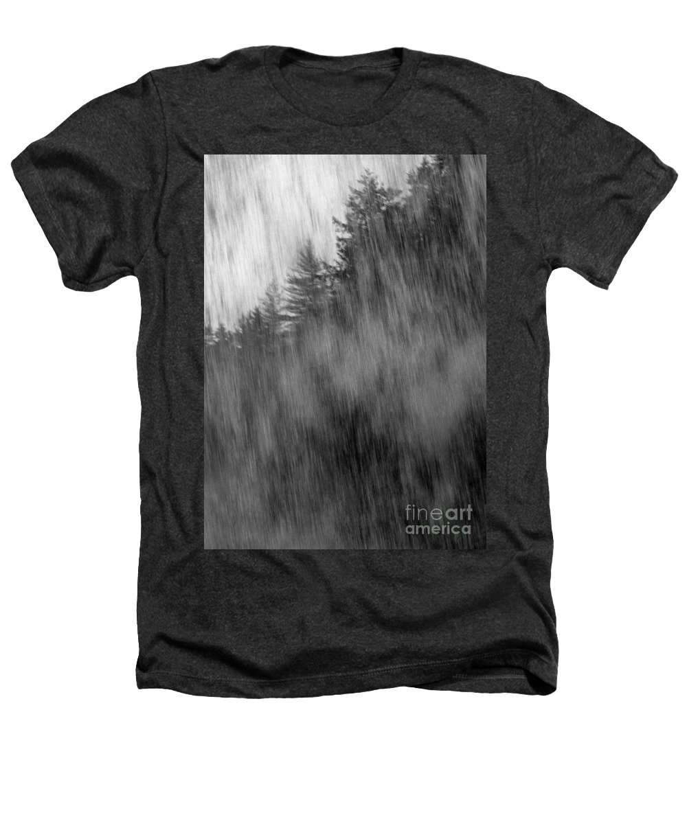 Waterfalls Heathers T-Shirt featuring the photograph Behind The Falls by Richard Rizzo