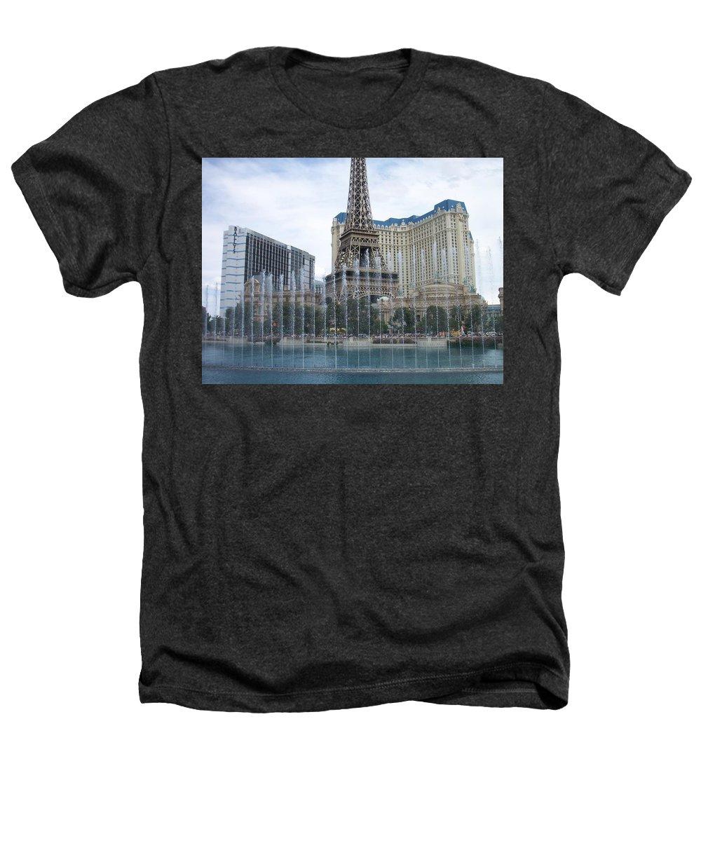 Bellagio Fountain Heathers T-Shirt featuring the photograph Bellagio Fountain 1 by Anita Burgermeister