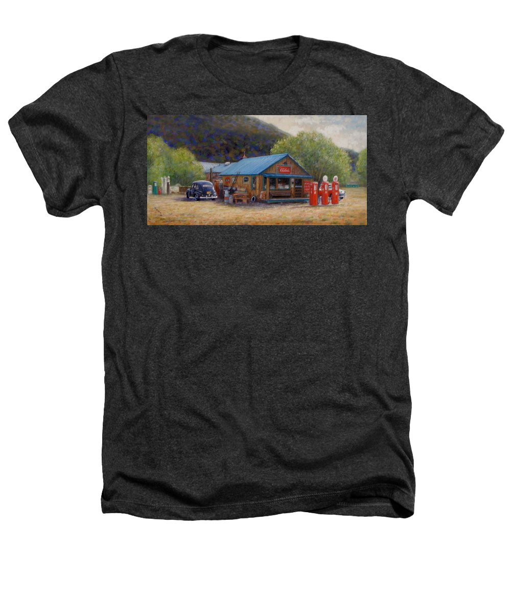 Realism Heathers T-Shirt featuring the painting Below Taos 2 by Donelli DiMaria