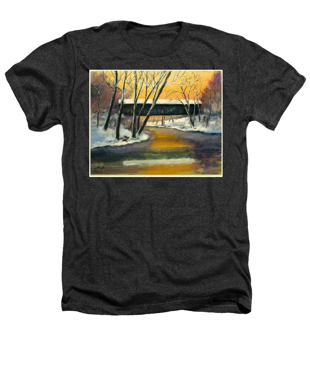 Kentucky Heathers T-Shirt featuring the painting Bennett by Gail Kirtz