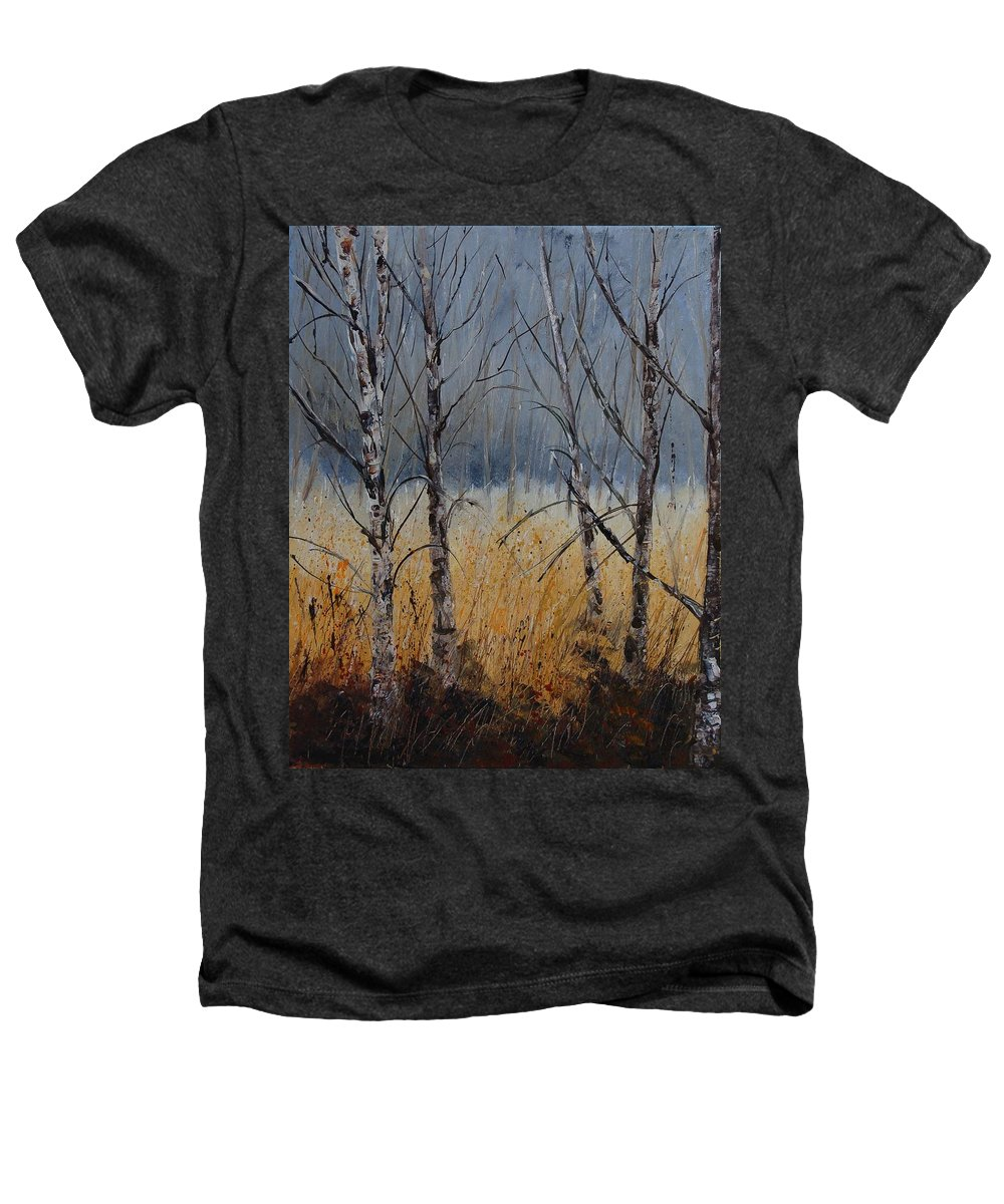 Winter Heathers T-Shirt featuring the painting Birch Trees by Pol Ledent