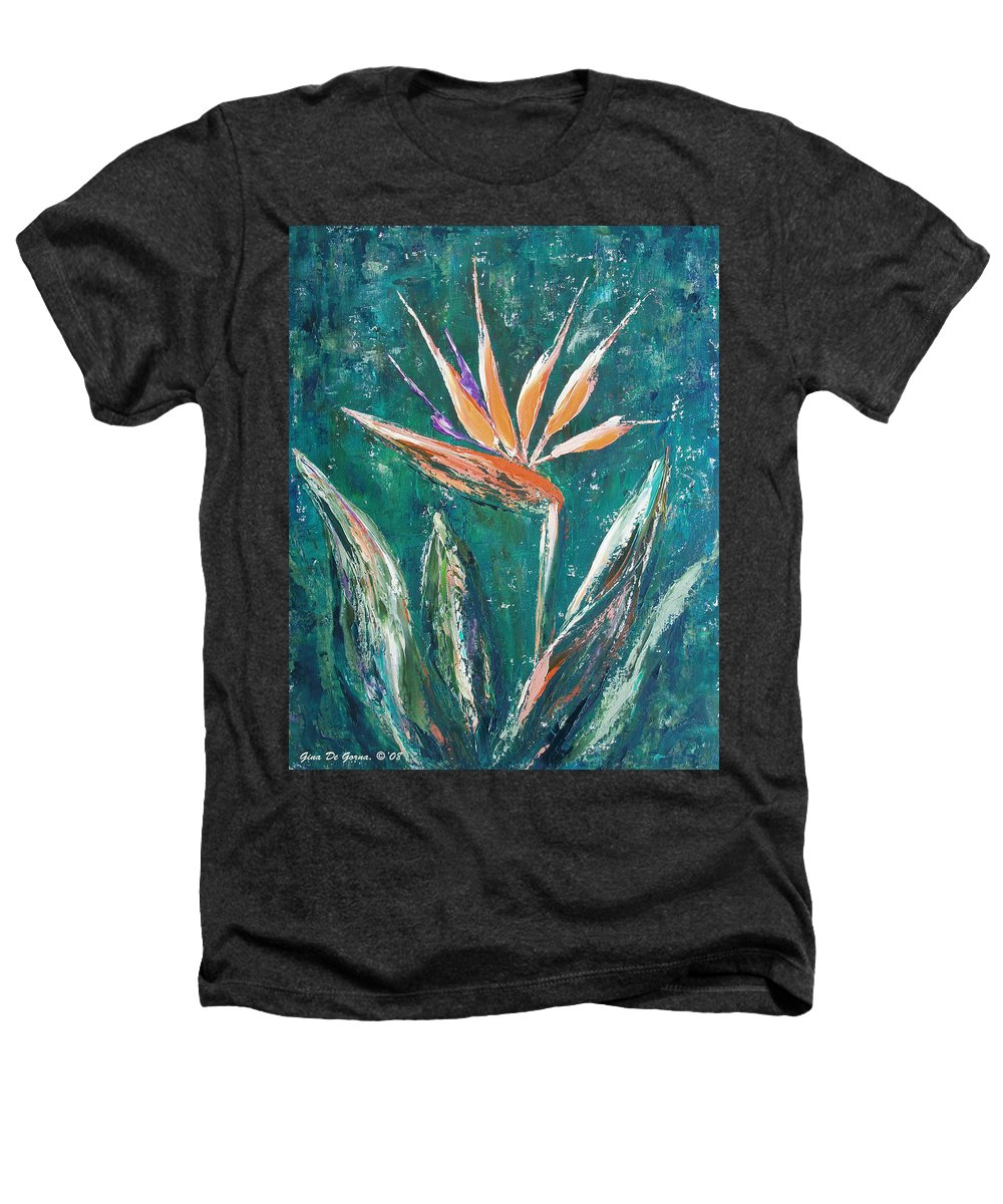 Bird Of Paradise Heathers T-Shirt featuring the painting Bird Of Paradise by Gina De Gorna