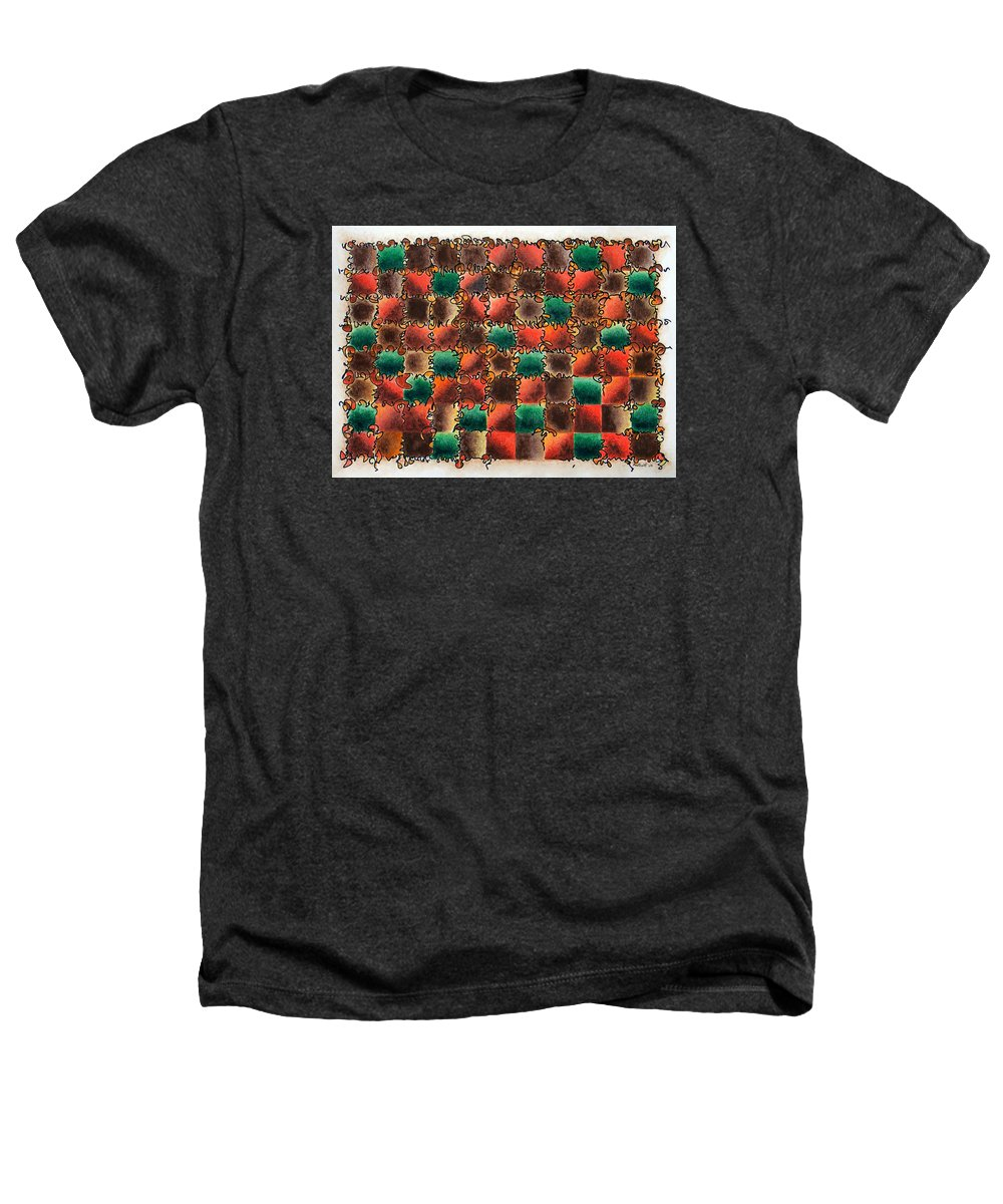 Abstract Heathers T-Shirt featuring the painting Black Forest Cake by Dave Martsolf