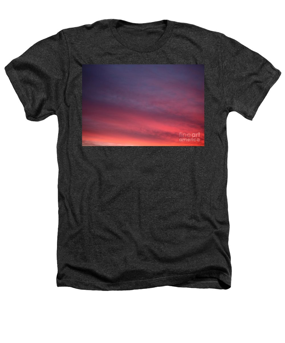 Sunset Heathers T-Shirt featuring the photograph Blue And Orange Sunset by Nadine Rippelmeyer