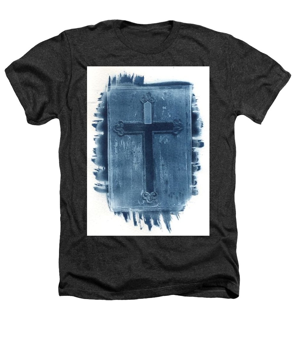 Cyanotype Heathers T-Shirt featuring the photograph Blue Cross by Jane Linders