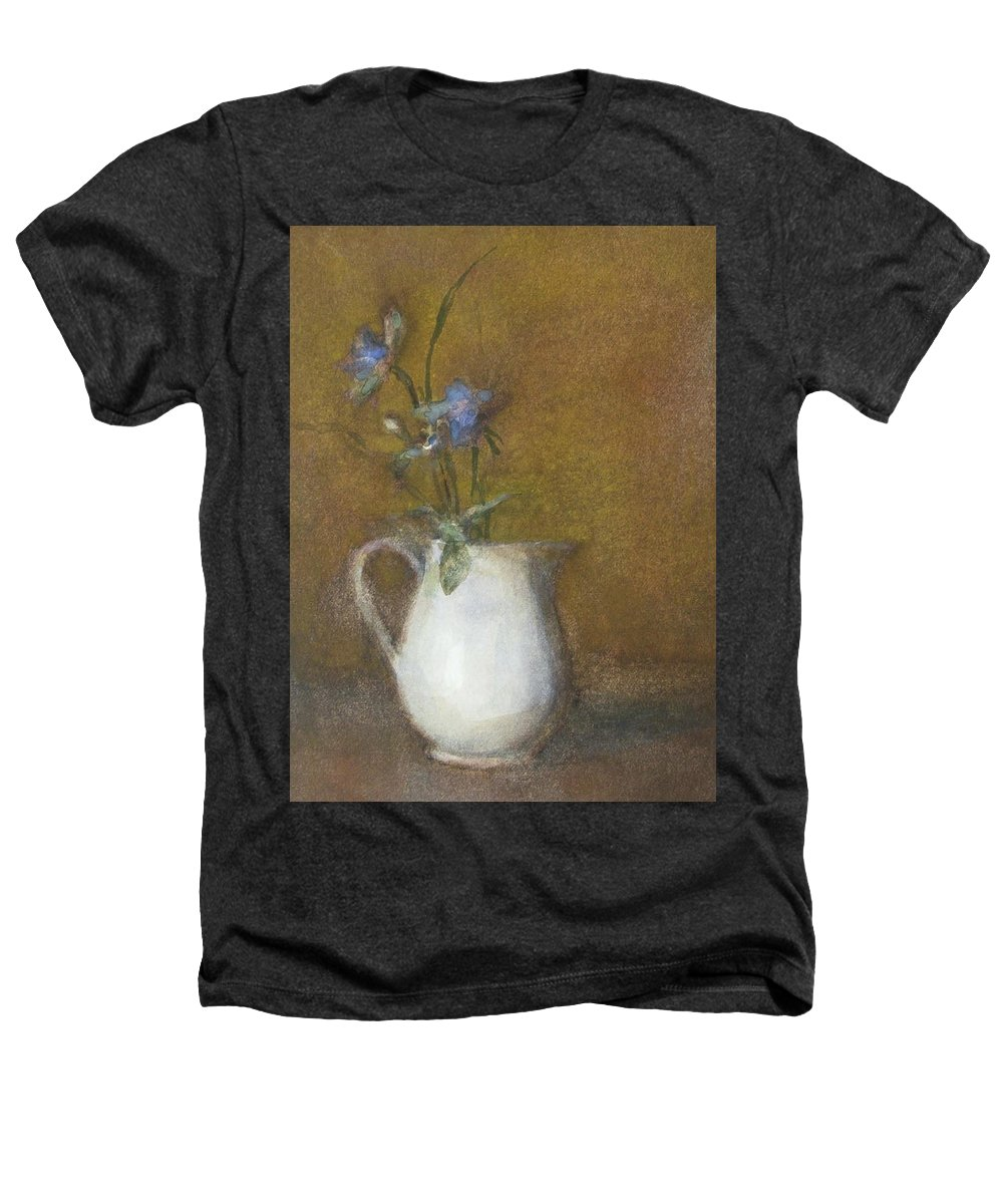 Floral Still Life Heathers T-Shirt featuring the painting Blue Flower by Joan DaGradi