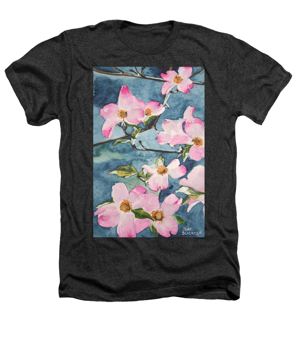 Flowers Heathers T-Shirt featuring the painting Blushing Prettily by Jean Blackmer