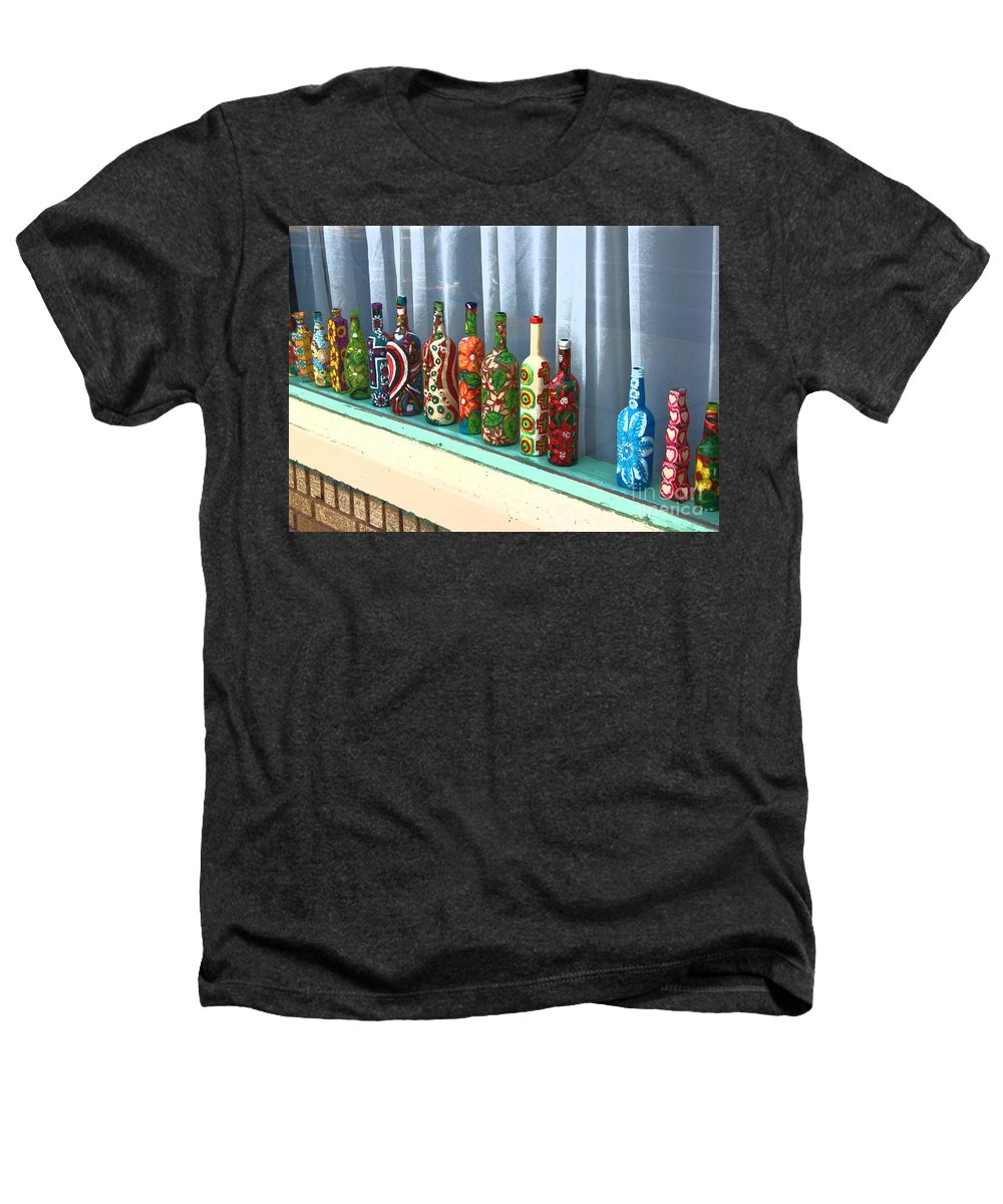 Bottles Heathers T-Shirt featuring the photograph Bottled Up by Debbi Granruth