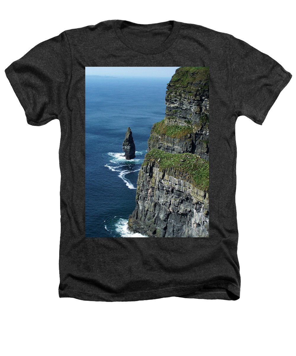 Irish Heathers T-Shirt featuring the photograph Brananmore Cliffs Of Moher Ireland by Teresa Mucha