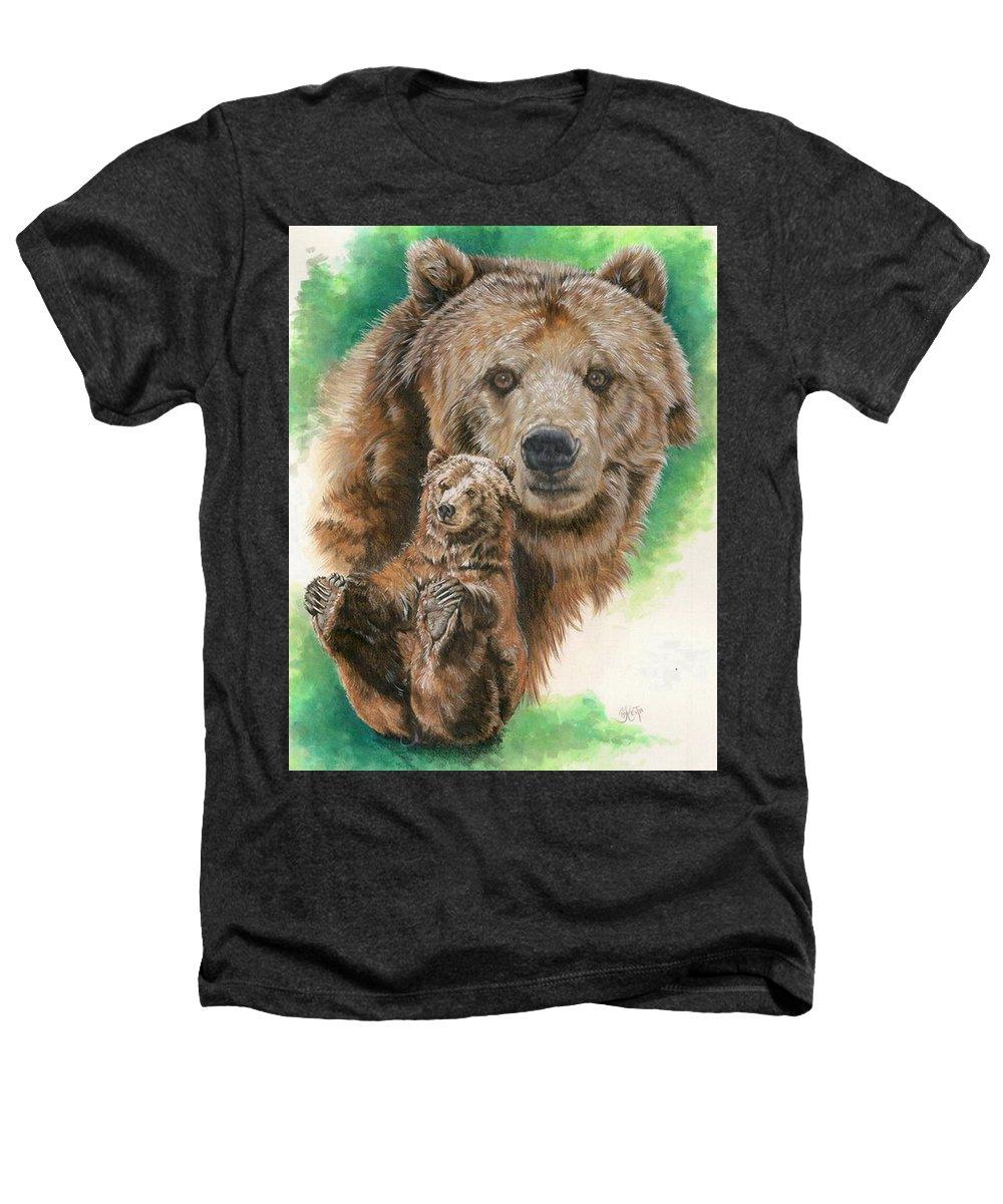 Bear Heathers T-Shirt featuring the mixed media Brawny by Barbara Keith