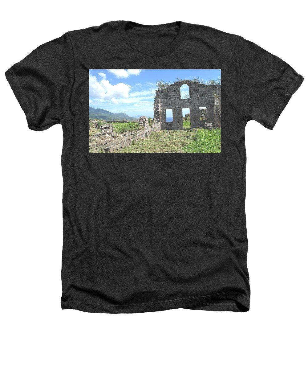 St Kitts Heathers T-Shirt featuring the photograph Brimstone Ruins by Ian MacDonald