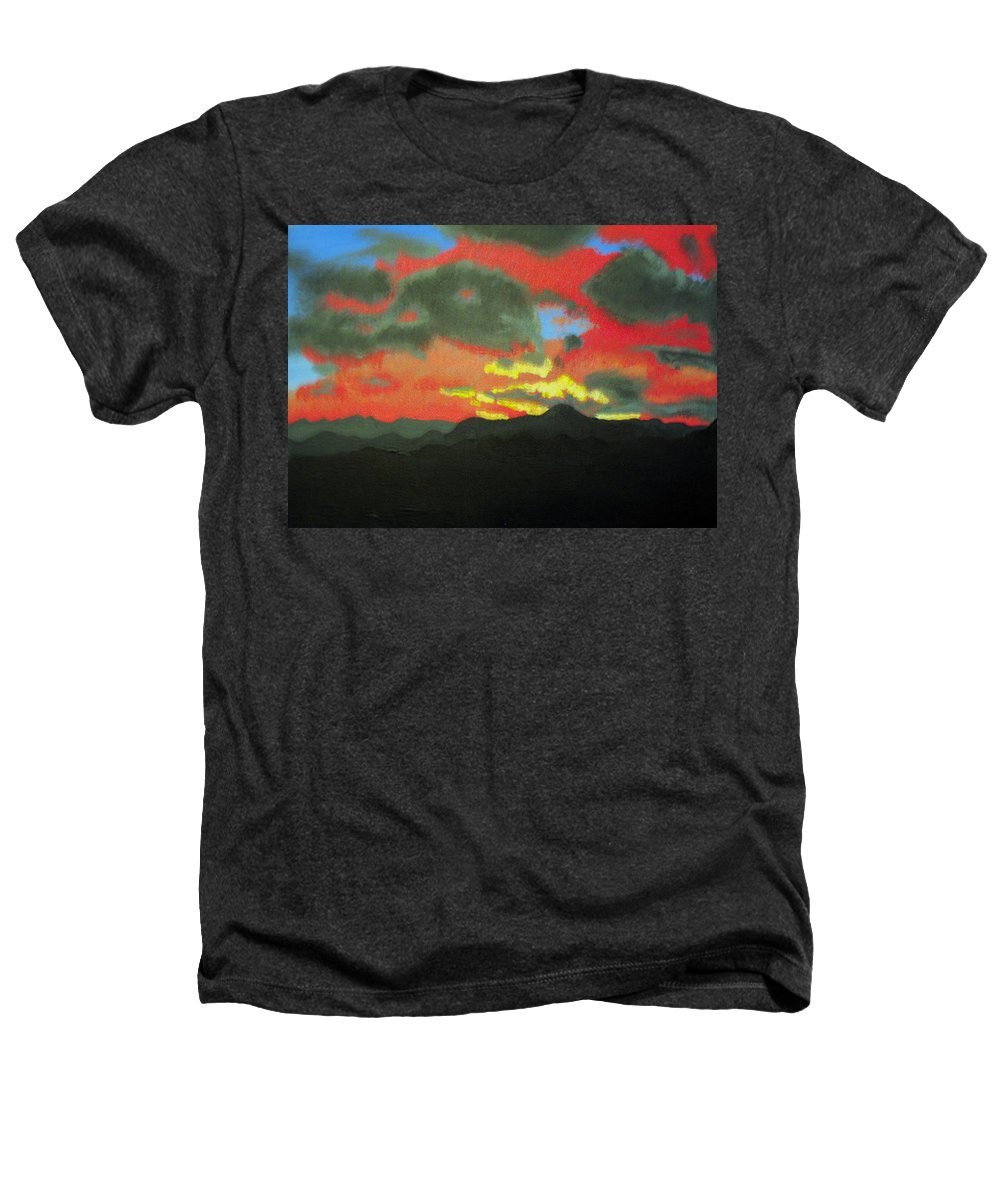 Sunset Heathers T-Shirt featuring the painting Buenas Noches by Marco Morales