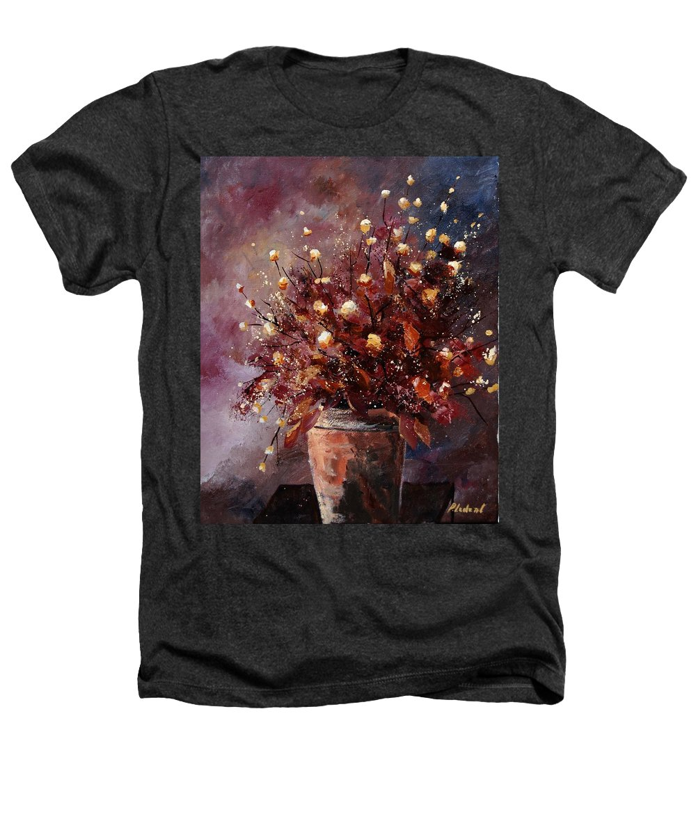 Poppies Heathers T-Shirt featuring the painting Bunch 56 by Pol Ledent