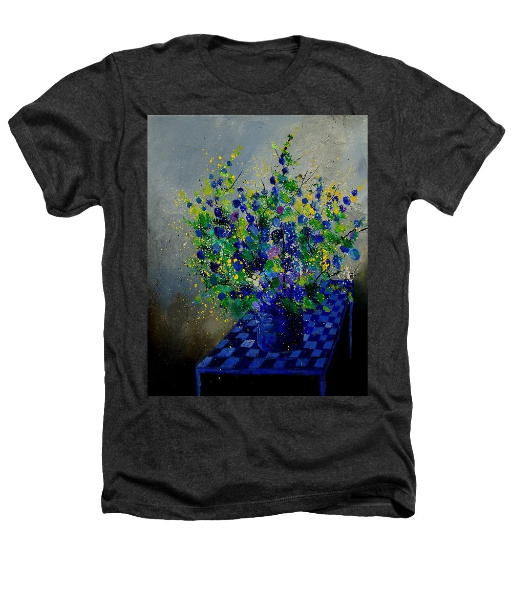 Flowers Heathers T-Shirt featuring the painting Bunch 9020 by Pol Ledent