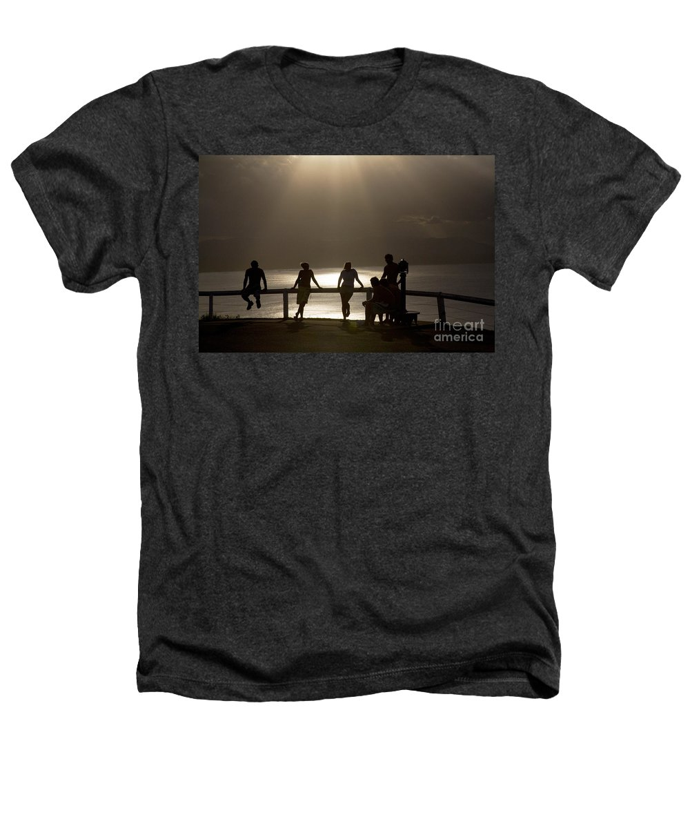 Byron Bay Lighthouse Silhouette Sunset Rays Heathers T-Shirt featuring the photograph Byron Bay Lighthouse by Avalon Fine Art Photography
