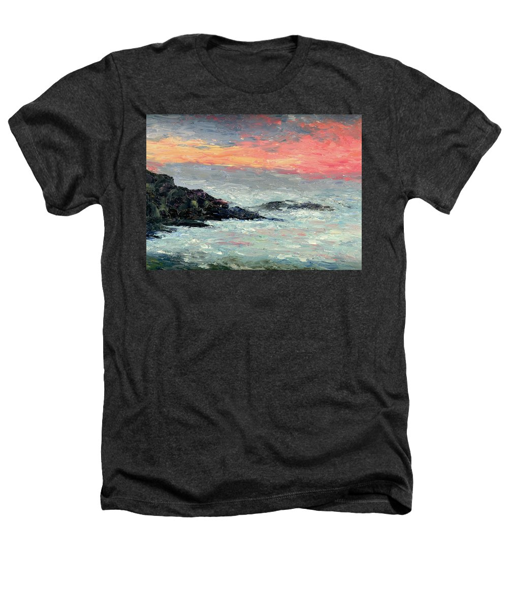 Seascape Heathers T-Shirt featuring the painting California Coast by Gail Kirtz