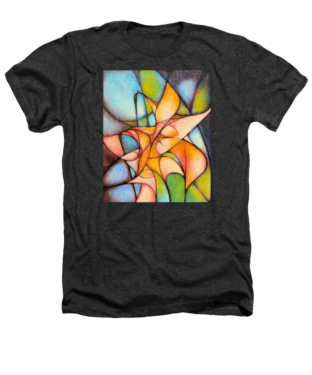 Contemporary Heathers T-Shirt featuring the painting Calla Lillies by Kevin Lawrence Leveque