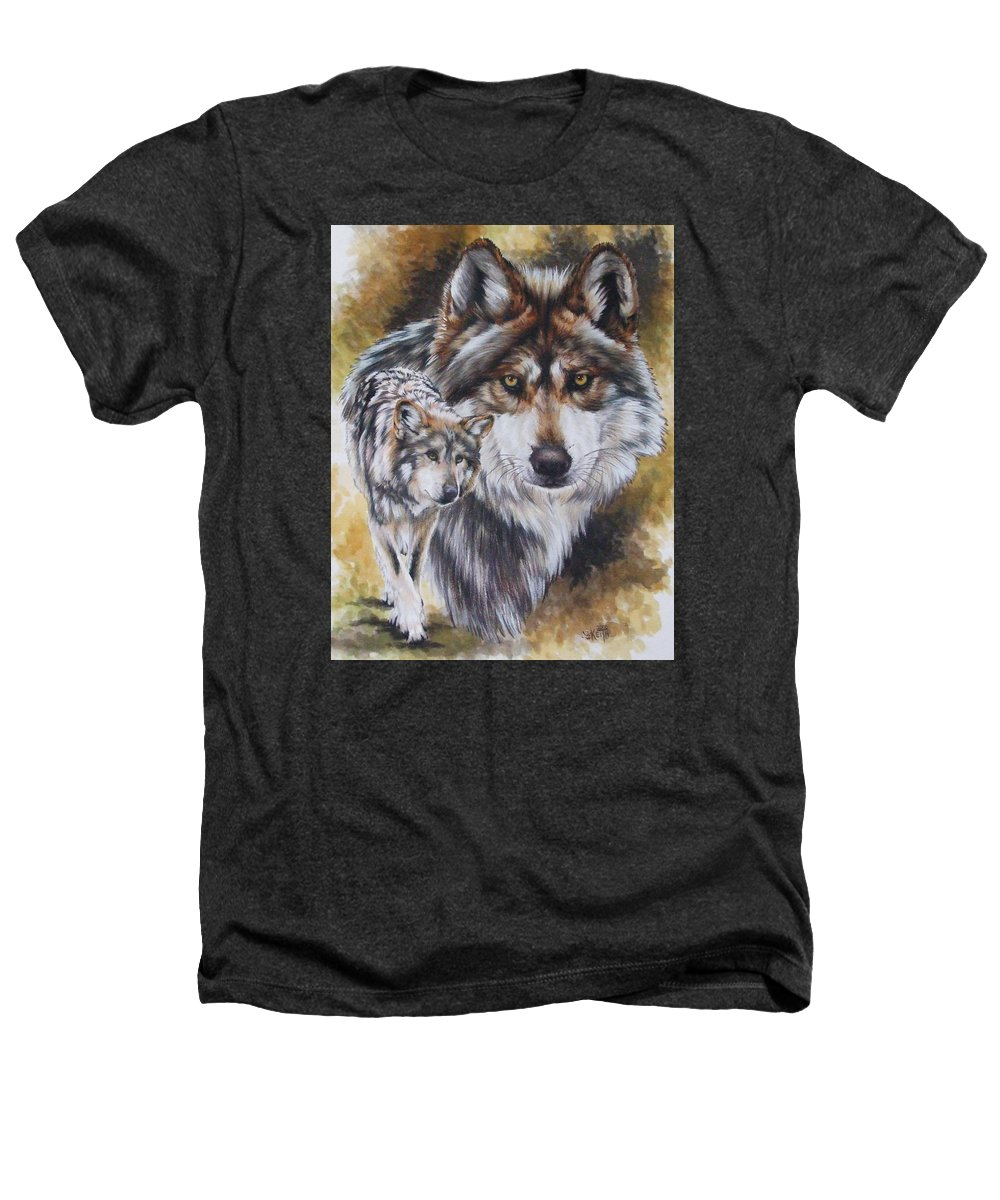 Wildlife Heathers T-Shirt featuring the mixed media Callidity by Barbara Keith