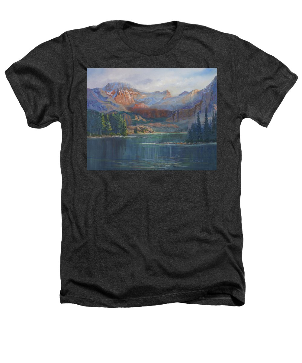 Capital Peak Heathers T-Shirt featuring the painting Capitol Peak Rocky Mountains by Heather Coen