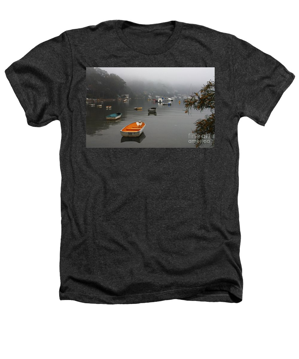 Mist Heathers T-Shirt featuring the photograph Careel Bay Mist by Avalon Fine Art Photography