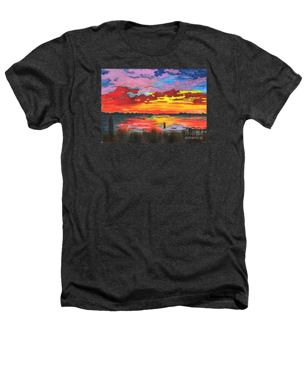 Original Painting Heathers T-Shirt featuring the painting Carolina Sunset by Patricia Griffin Brett