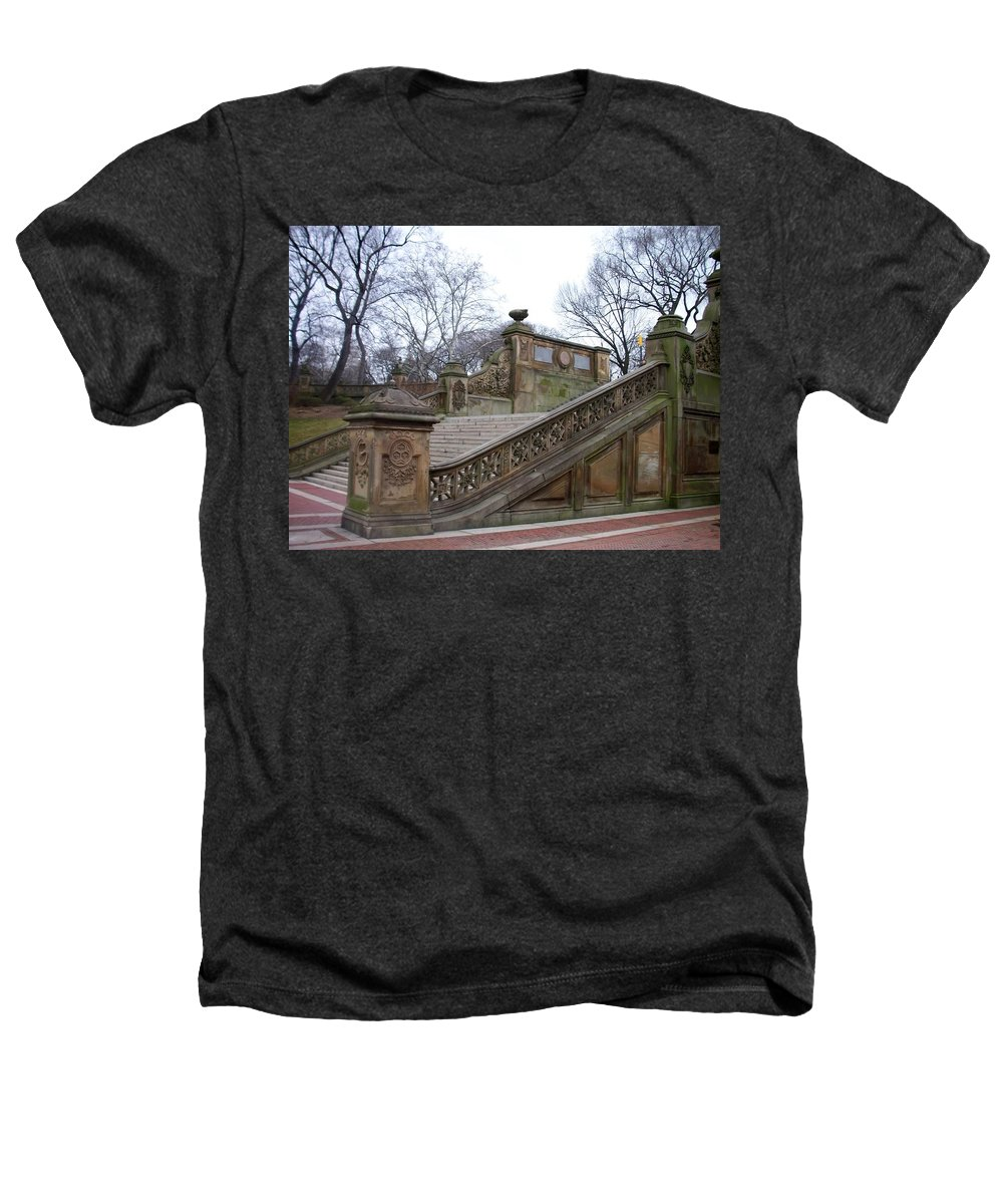Central Park Heathers T-Shirt featuring the photograph Central Park Bethesda 1 by Anita Burgermeister