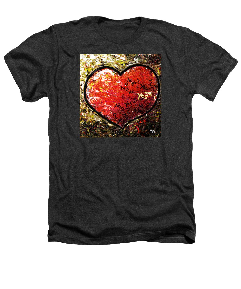 Pop Heathers T-Shirt featuring the painting Chaos In Heart by Hiroko Sakai
