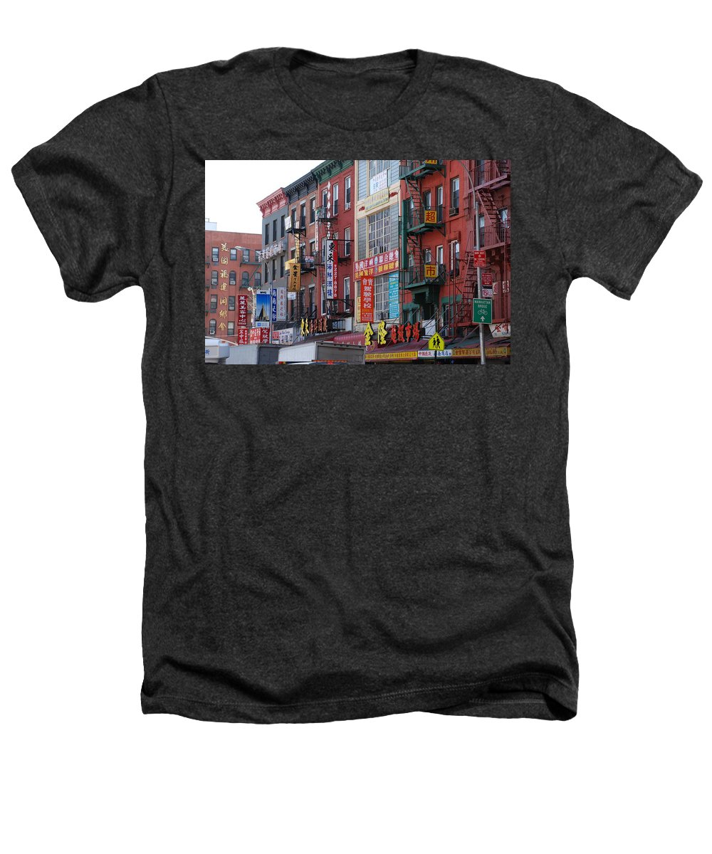 Architecture Heathers T-Shirt featuring the photograph China Town Buildings by Rob Hans