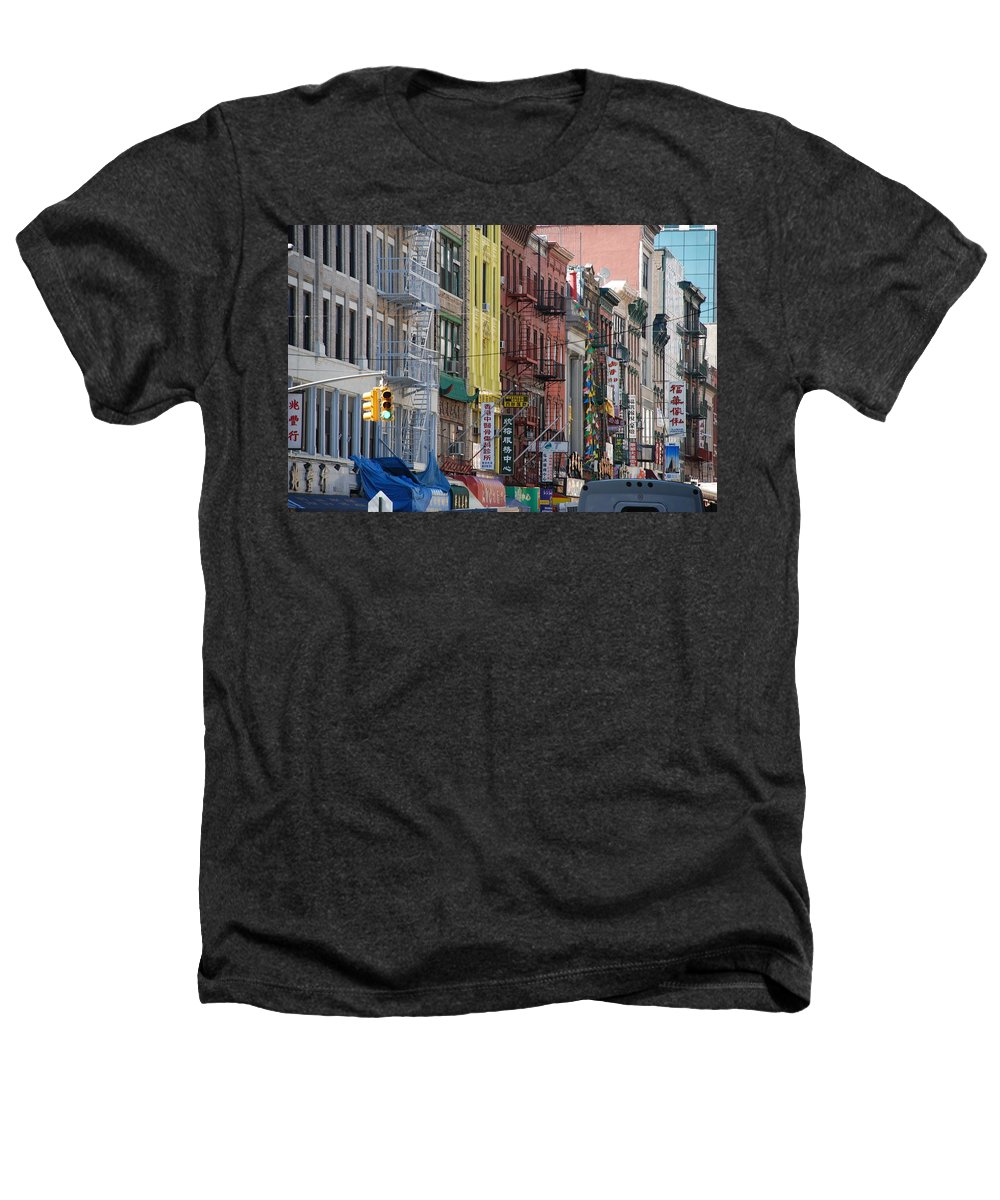 Architecture Heathers T-Shirt featuring the photograph Chinatown Walk Ups by Rob Hans