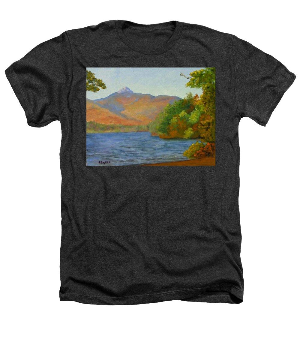 Mount Chocorua And Chocorua Lake Heathers T-Shirt featuring the painting Chocorua by Sharon E Allen