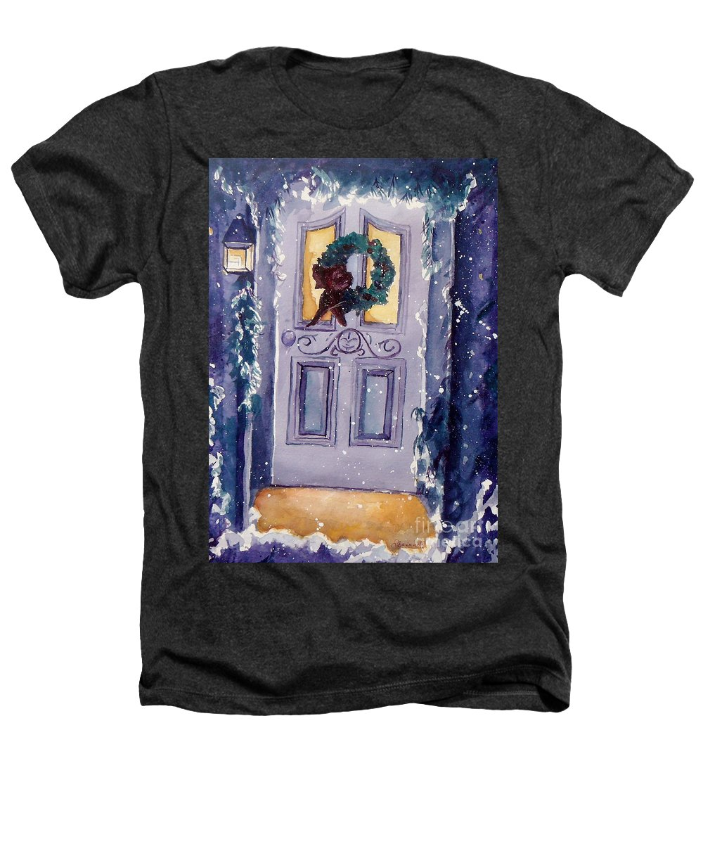 Holiday Scene Heathers T-Shirt featuring the painting Christmas Eve by Jan Bennicoff