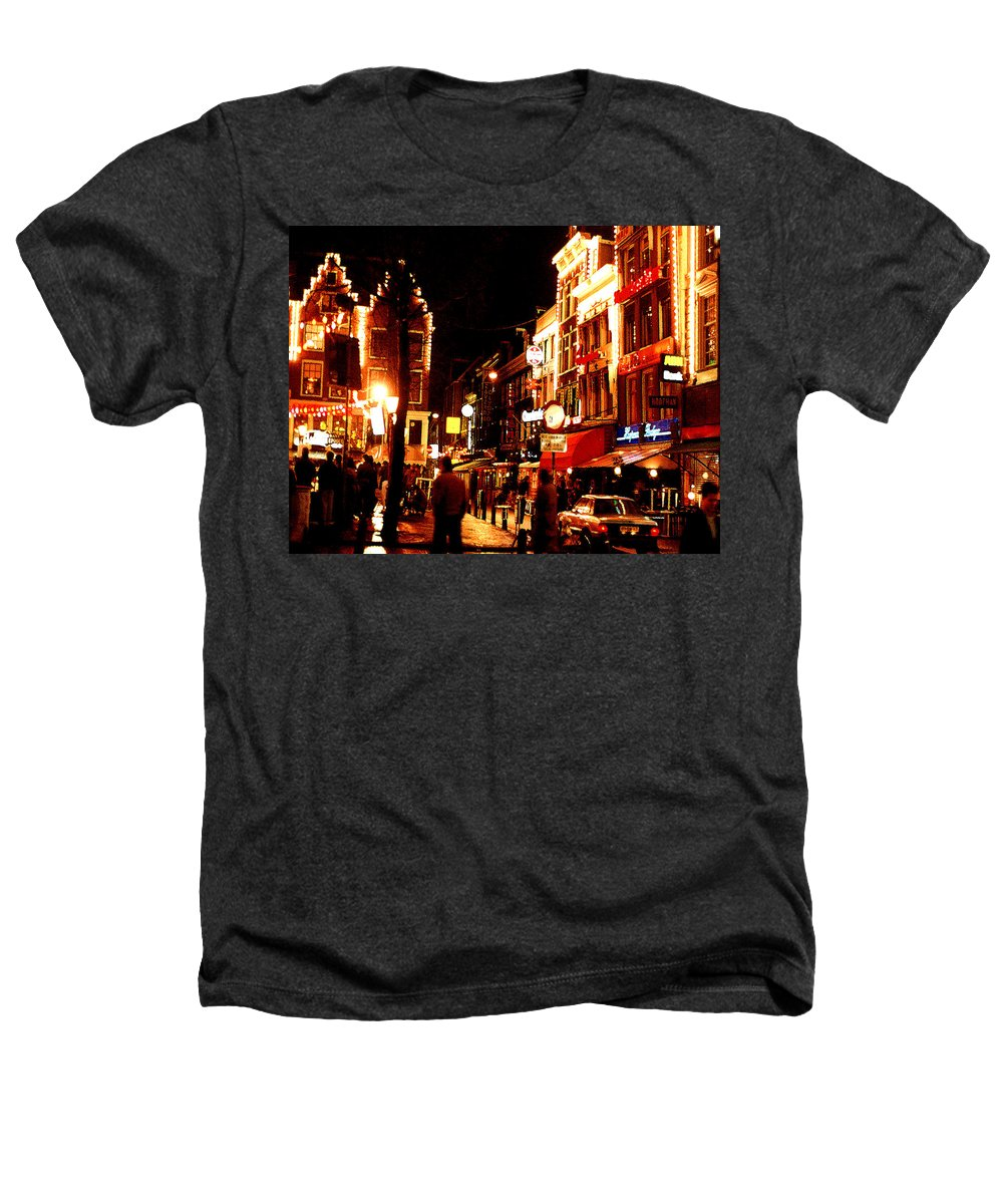 Night Heathers T-Shirt featuring the photograph Christmas In Amsterdam by Nancy Mueller