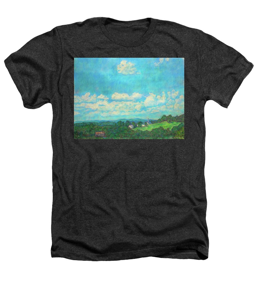 Landscape Heathers T-Shirt featuring the painting Clouds Over Fairlawn by Kendall Kessler