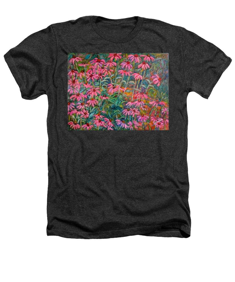 Kendall Kessler Heathers T-Shirt featuring the painting Coneflowers by Kendall Kessler