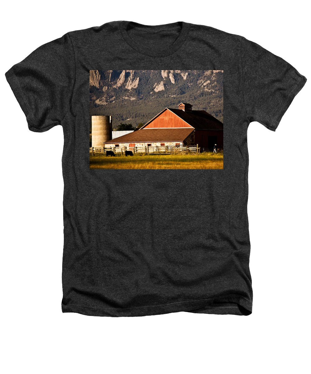 Americana Heathers T-Shirt featuring the photograph Country Living Boulder County by Marilyn Hunt