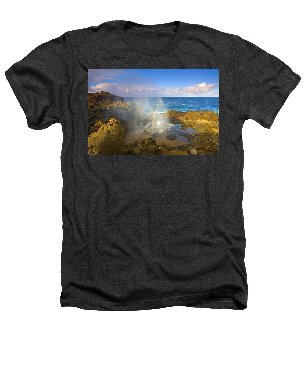 Blowhole Heathers T-Shirt featuring the photograph Creating Miracles by Mike Dawson