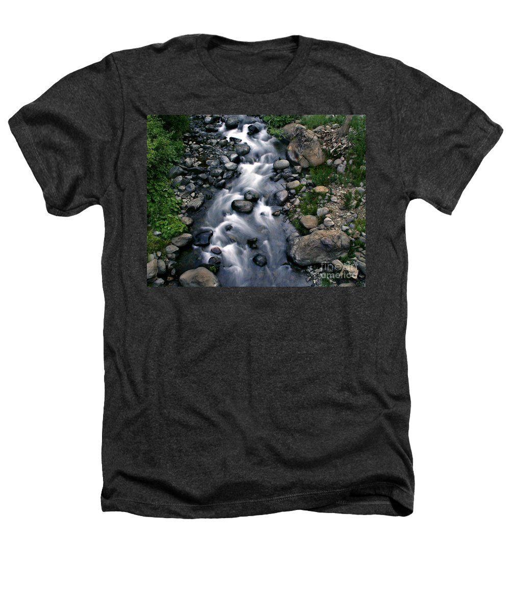 Creek Heathers T-Shirt featuring the photograph Creek Flow by Peter Piatt