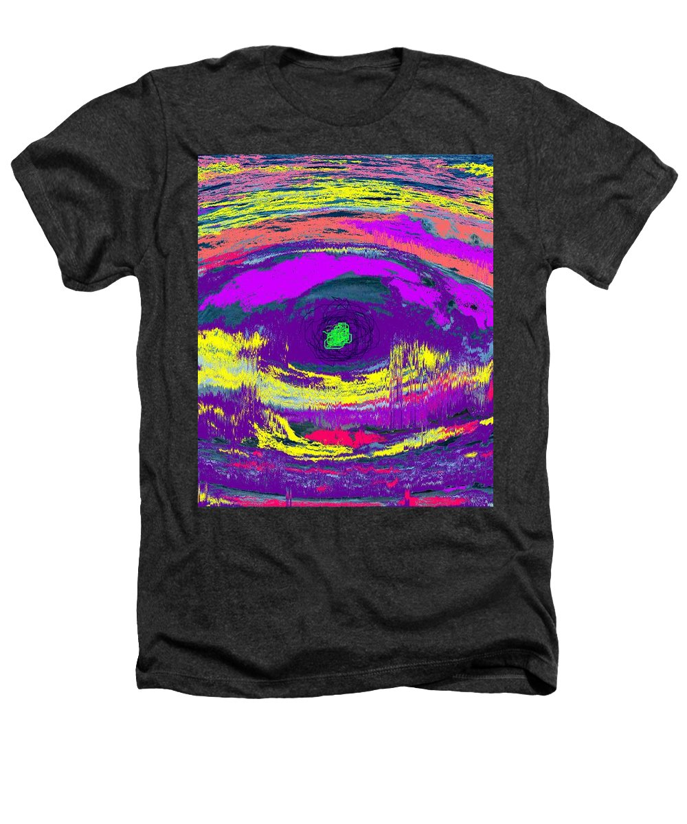 Abstract Heathers T-Shirt featuring the digital art Crocodile Eye by Ian MacDonald
