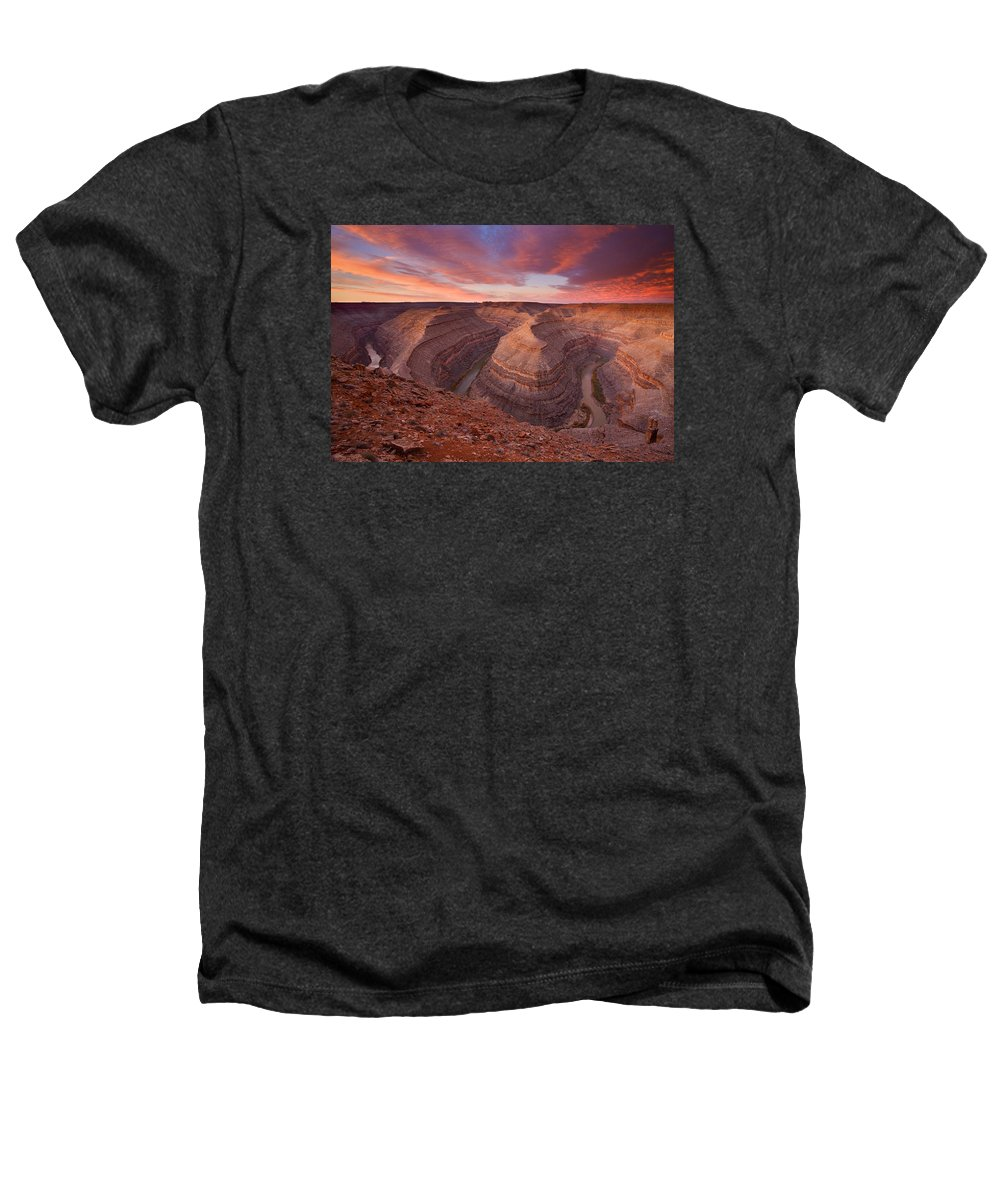 Canyon Heathers T-Shirt featuring the photograph Curves Ahead by Mike Dawson