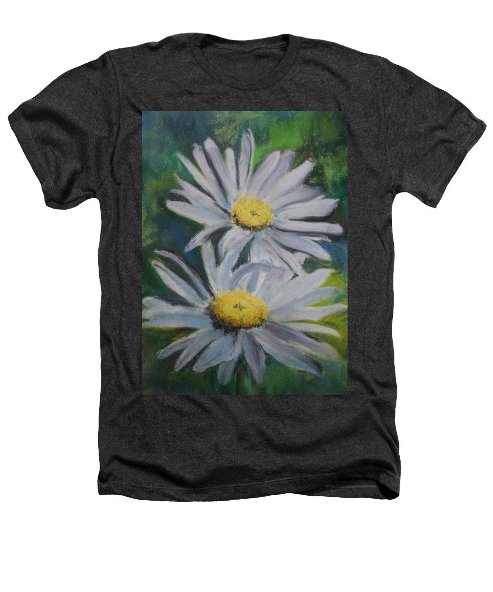 Daisies Heathers T-Shirt featuring the painting Daisies by Melinda Etzold