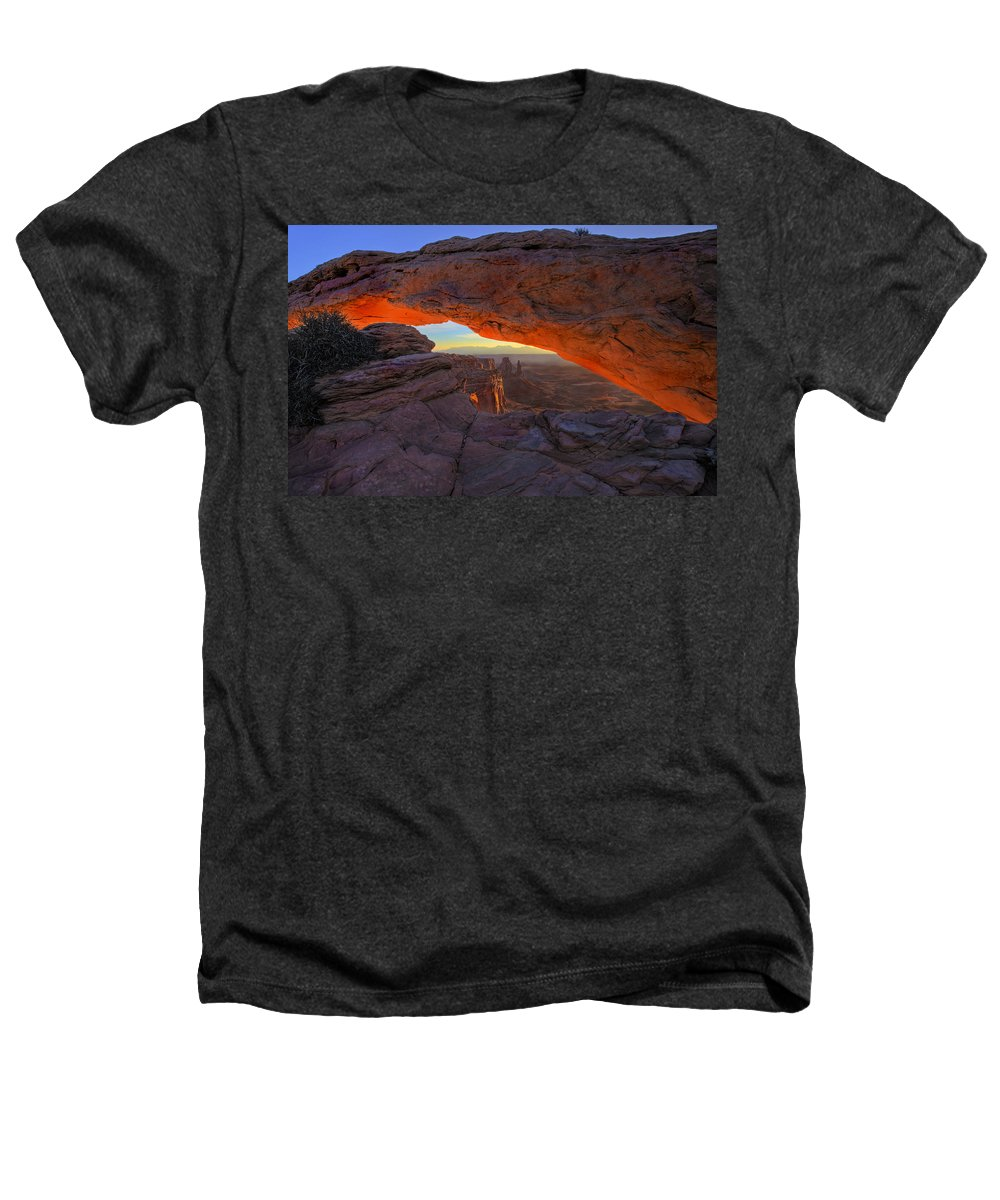 Mesa Arch Heathers T-Shirt featuring the photograph Dawns Early Light by Mike Dawson