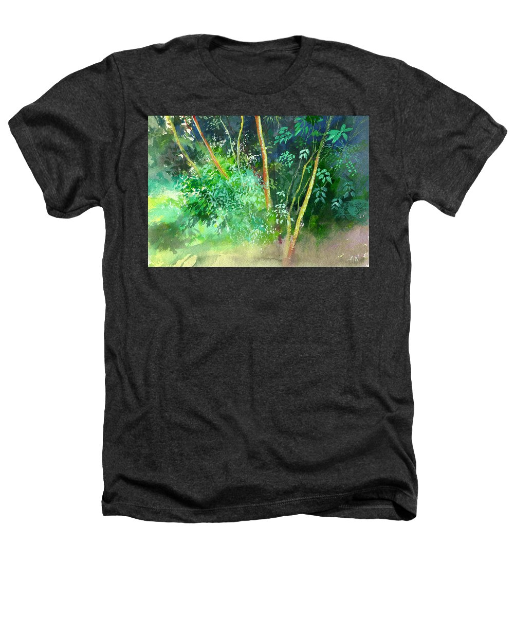 Water Color Heathers T-Shirt featuring the painting Deep by Anil Nene